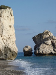 Irgendwo hier soll Aphrodite aus den Wellen gestiegen sein.
