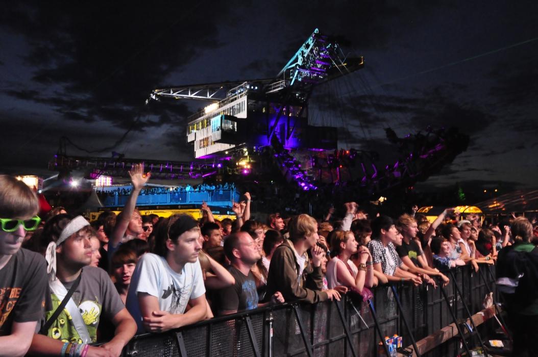 Die Party in Ferropolis geht weiter: Nächstes Wochenende steigt hier das Splash-Festival.
