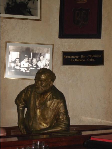 Hier trank Hemingway am liebsten seinen Daiquiri. Wenn die Leute irgendwann einmal eine lebensgroße Statue von mir an einer Theke aufstellen, habe ich's geschafft, würde ich sagen.
