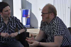 Jean Michel Tourette von Wir sind Helden erweist sich als sehr angenehmer Gesprächspartner.