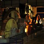Zwischen diesen Rädern sind in der Zuckerfabrik früher ab und zu mal Arbeiter zerquetscht worden. Im Ernst. Heute ist die Fabrik ein Museum.