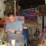 Maler Wladimir Kovac hat sein Atelier in einer alten Festung.