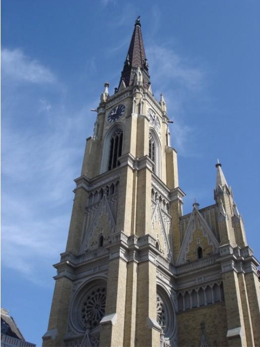 Die Marienkirche in Novi Sad, neogotisch.