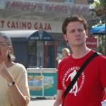 Unsere Stadtführerin Xenia und ich. Foto: Mayumi Leitgeb
