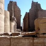 Im Karnak-Tempel.