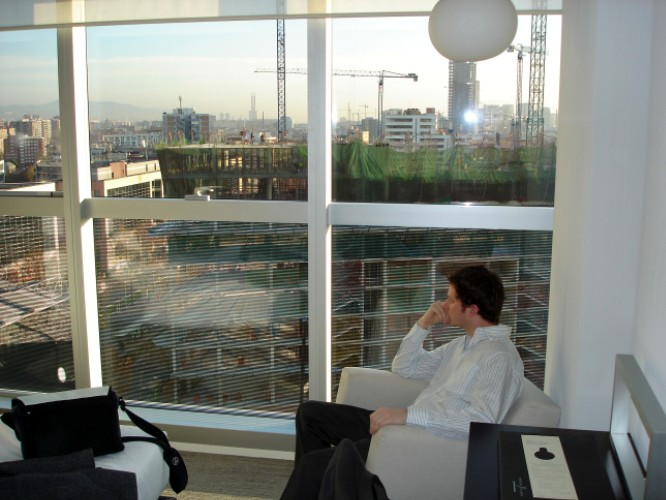 Hotel Diagonal, Barcelona, Spanien, 19. Januar 2007
