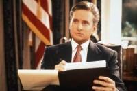 Andrew Shepherd (Michael Douglas) steht vor der Frage: Darf sich ein Präsident verlieben?