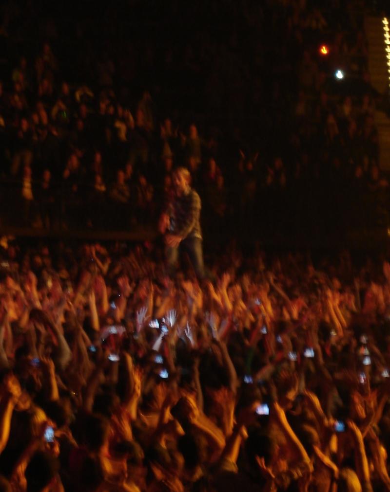Und zum Schluss trugen die Fans Sänger Peter zu Recht auf Händen.