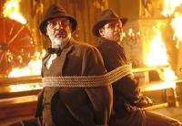 Professor Henry Jones (Sean Connery) und Doktor Henry Jones (Harrison Ford, rechts) jagen einem geheimen Schatz nach.