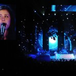 Die Bilder auf der Videoleinwand waren die, die wir aus dem Fernsehen kennen.