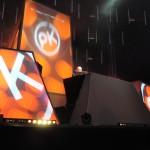 Paul Kalkbrenner sah auf der Riesen-Bühne aus wie eine Playmobilfigur.