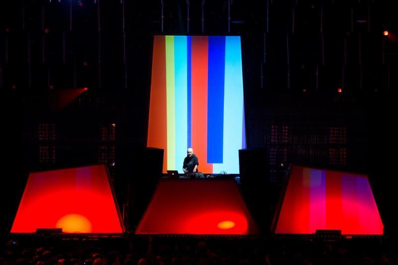Der Super-DJ lockte das größte Publikum überhaupt beim Melt an - auch mit einer tollen Lichtshow. Foto: Melt-Festival