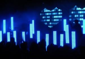 Wenn das Licht angeht, gibt es eine LED-Skyline: Dance.