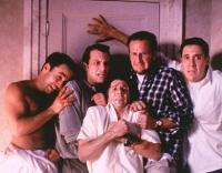 Fünf Freunde geraten bei einem Junggesellenabschied in mächtigen Schlamassel.