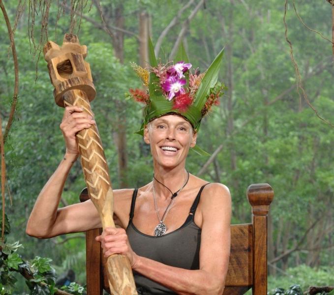 So sieht eine verdiente Dschungelkönigin aus: Bei allen Votings lag Brigitte Nielsen in der Gunst der Zuschauer vorne.