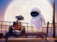 Wall-E (links) bekommt auf der Erde Besuch von Eve.