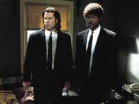 Vincent Vega (John Travolta, links) und Jules Winnfield (Samuel L. Jackson) sind Auftragskiller.