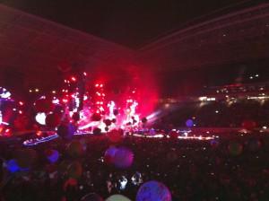 Luftballons, Konfetti, Feuerwerk: Fürs Auge wurde in Leipzig jede Menge geboten.