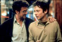 Gabriel (Mathieu Amalric, rechts) bewundert den Schriftsteller Adrien (François Cluzet).