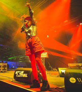 Katie Stelmanis hat das dritte Austra-Album schon zur Hälfte fertig. Foto: Berlin Festival/Stephan Flad