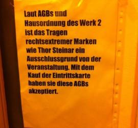 Das Werk 2 mag keine Nazis. Unter anderem deshalb wurde die Show verlegt.
