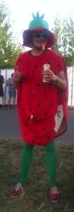 Highfield 2015 Kostüm Erdbeere