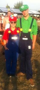 Highfield 2015 Kostüm Mario Luigi