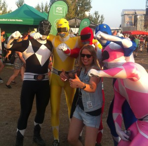 Highfield 2015 Kostüm Power Rangers