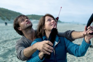Szene aus dem Film In der Falle Drachensteigen Strand