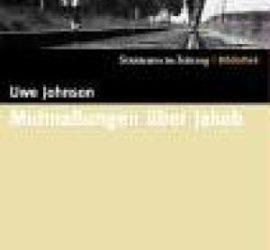 Mußmaßungen über Jakob Uwe Johnson Kritik Rezension